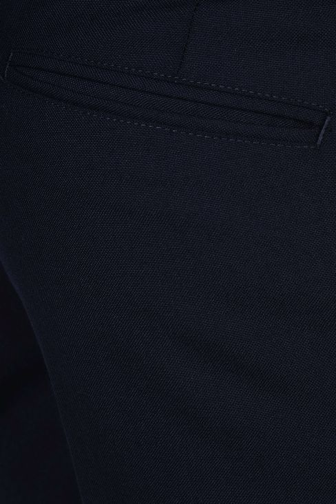 PURE VIRGIN WOOL PANTS: Straight leg trousers Men by Armani - 4