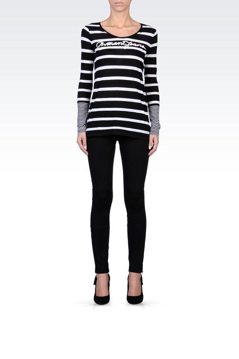 TECHNICAL INTERLOCK JOGGING PANTS: Leggings Women by Armani - 1