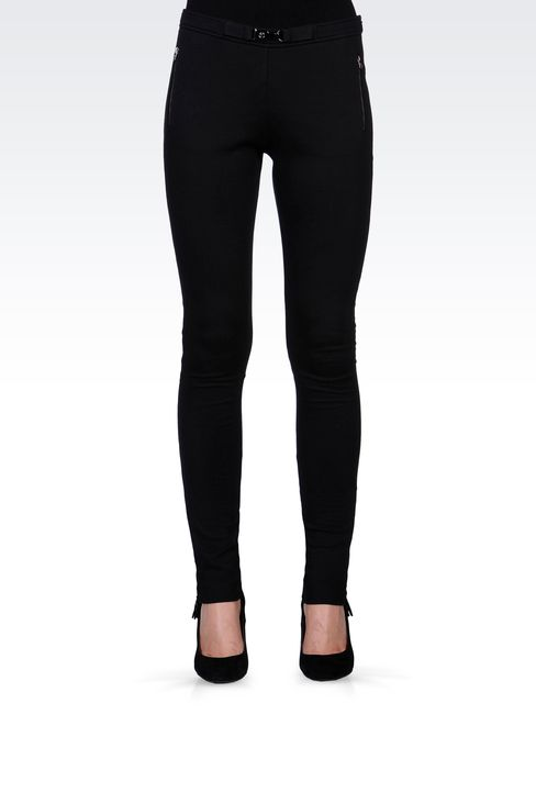 TECHNICAL INTERLOCK JOGGING PANTS: Leggings Women by Armani - 2