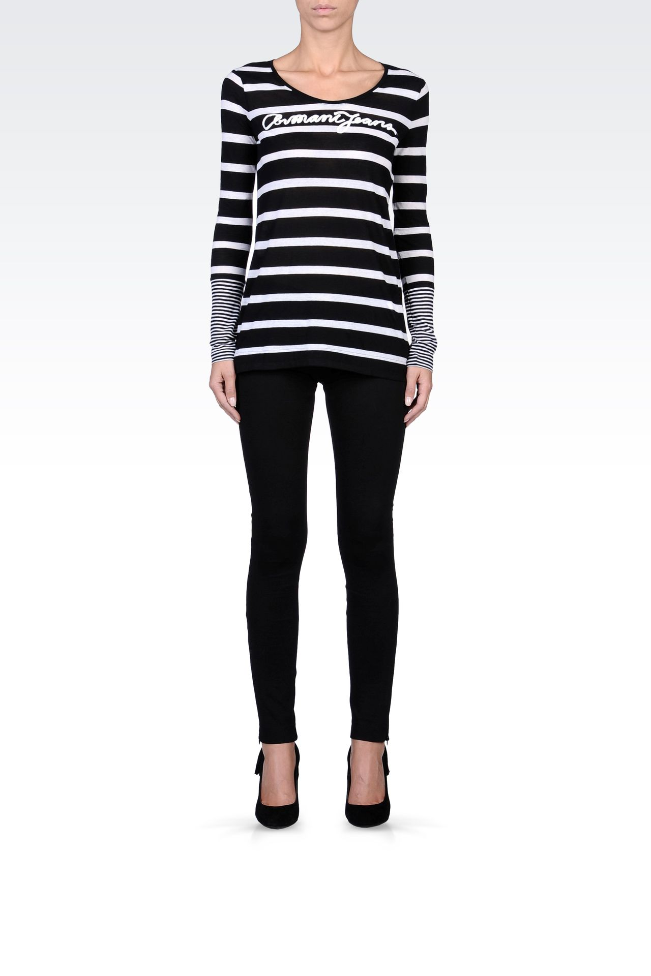 TECHNICAL INTERLOCK JOGGING PANTS: Leggings Women by Armani - 0