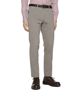 ERMENEGILDO ZEGNA: Casual pants Steel grey - 36450486CG