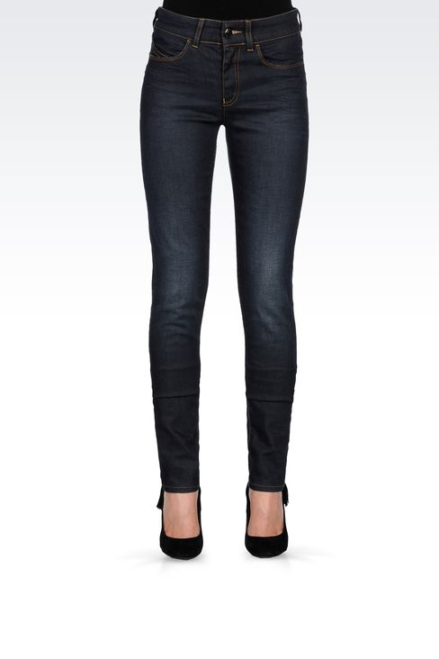 REGULAR-FIT VINTAGE EFFECT JEANS: Jeans Women by Armani - 2