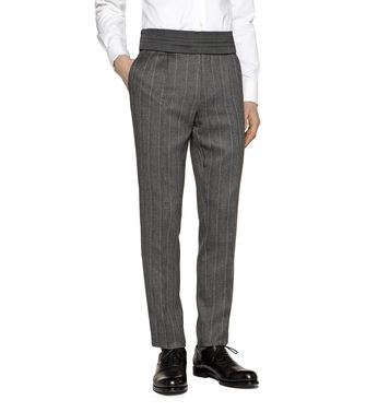 ERMENEGILDO ZEGNA: Dress pants Blue - Grey - Maroon - Ivory - 36450807OV