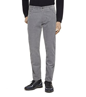 ZEGNA SPORT: 5-pockets Trousers Grey - 36451101QS