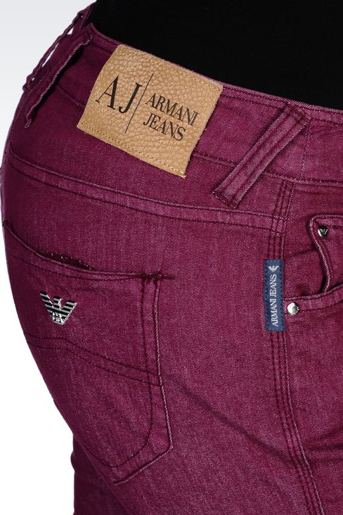 SLIM-FIT SUPER STRETCH JEANS : Jeans Women by Armani - 5