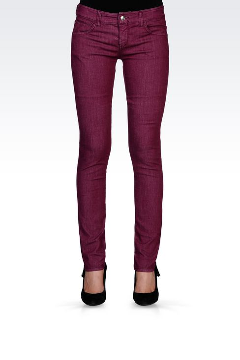 SLIM-FIT SUPER STRETCH JEANS : Jeans Women by Armani - 3