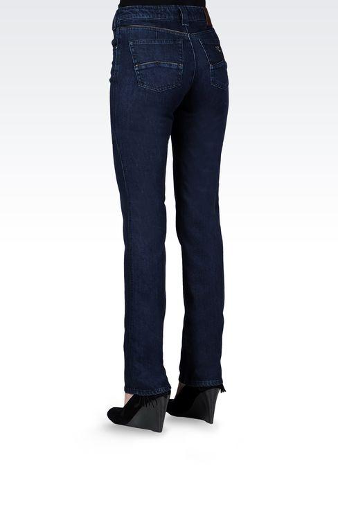 REGULAR-FIT DARK-WASH JEANS: Jeans Women by Armani - 3