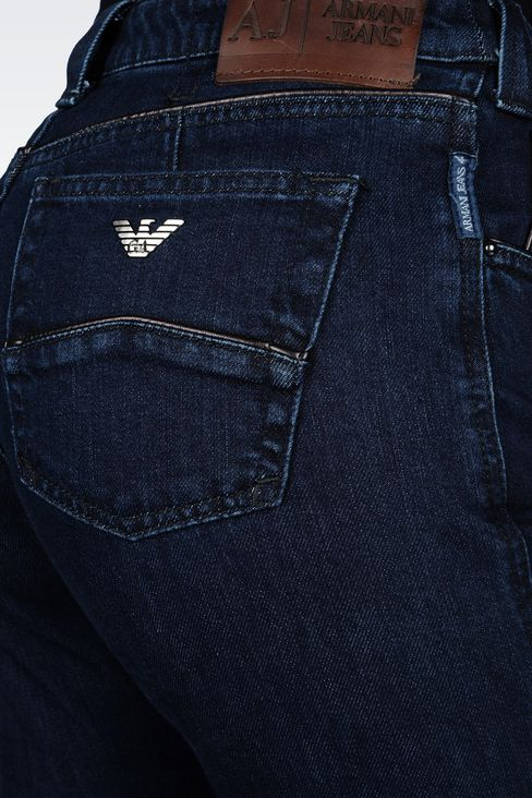 REGULAR-FIT DARK-WASH JEANS: Jeans Women by Armani - 4