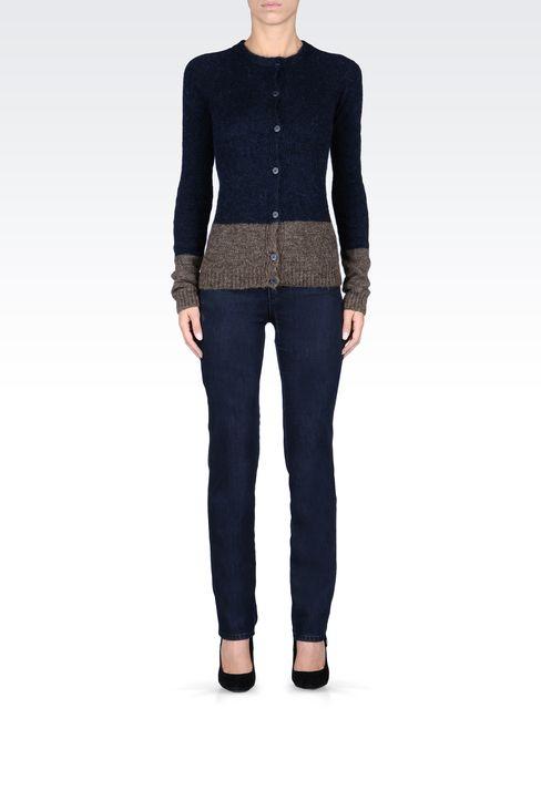 REGULAR-FIT DARK-WASH JEANS: Jeans Women by Armani - 1