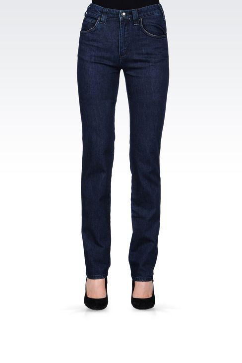 REGULAR-FIT DARK-WASH JEANS: Jeans Women by Armani - 2