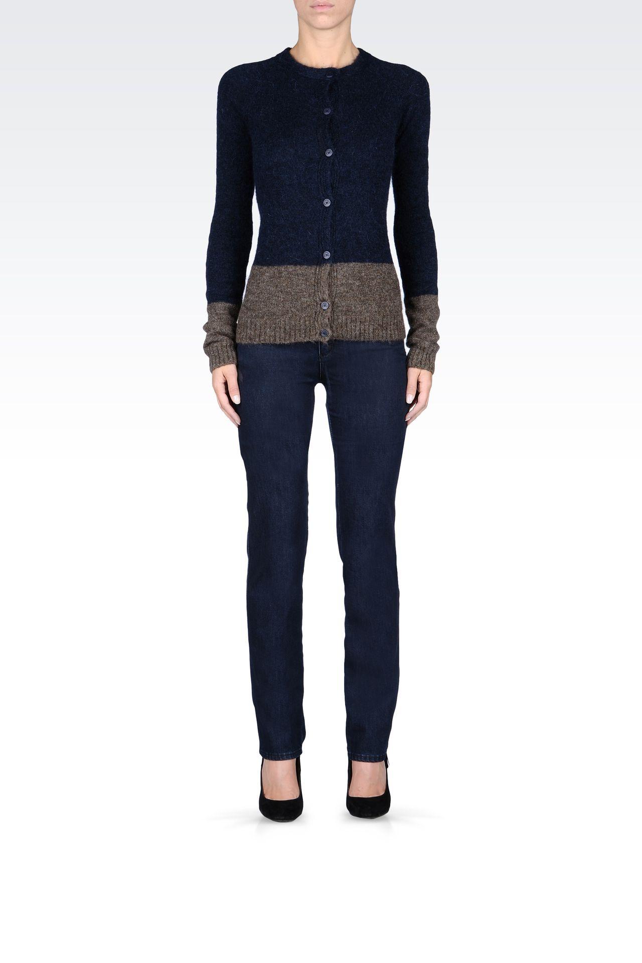 REGULAR-FIT DARK-WASH JEANS: Jeans Women by Armani - 0