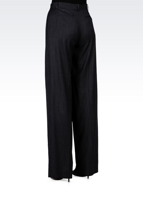 PINSTRIPE PALAZZO PANTS: Wide-leg trousers Women by Armani - 3