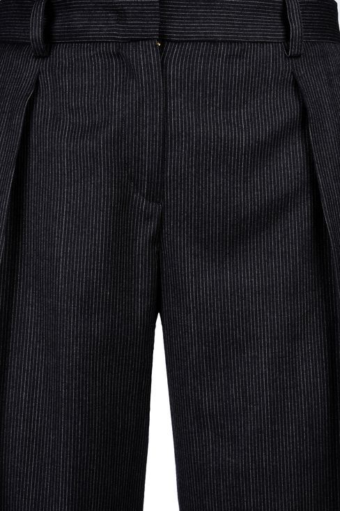 PINSTRIPE PALAZZO PANTS: Wide-leg trousers Women by Armani - 4