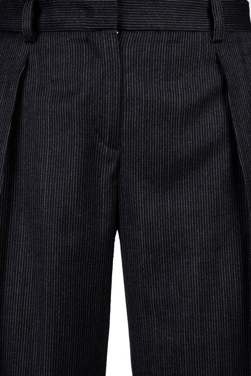 PINSTRIPE PALAZZO PANTS: Wide-leg trousers Women by Armani - 4