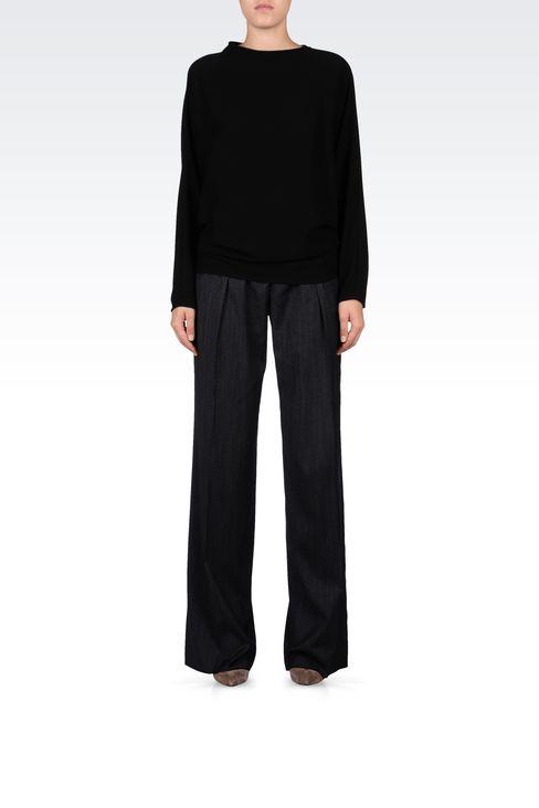 PINSTRIPE PALAZZO PANTS: Wide-leg trousers Women by Armani - 1