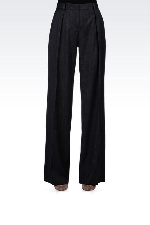 PINSTRIPE PALAZZO PANTS: Wide-leg trousers Women by Armani - 2