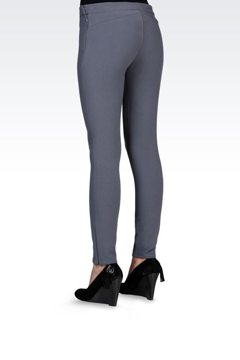 TECHNICAL VISCOSE LOW-RISE JEGGINGS: Straight leg pants Women by Armani - 3
