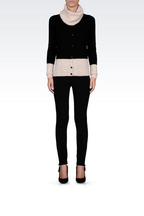 TECHNICAL VISCOSE LOW-RISE JEGGINGS: Straight leg pants Women by Armani - 1