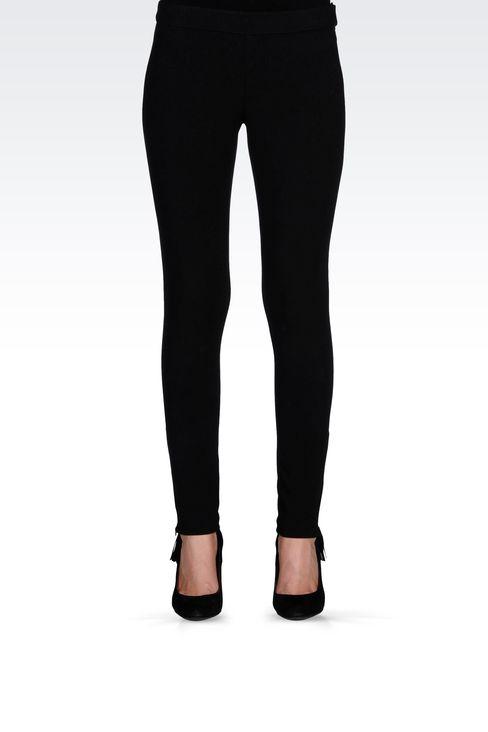 TECHNICAL VISCOSE LOW-RISE JEGGINGS: Straight leg pants Women by Armani - 2