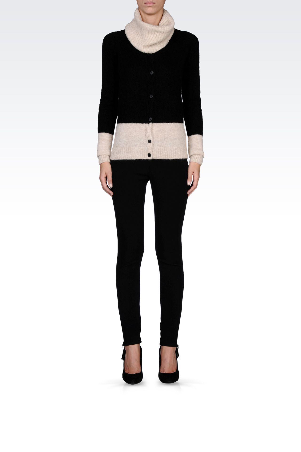 TECHNICAL VISCOSE LOW-RISE JEGGINGS: Straight leg pants Women by Armani - 0