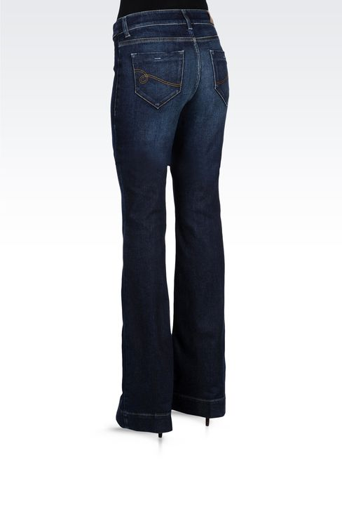 USED EFFECT FLARED JEANS: Jeans Women by Armani - 3