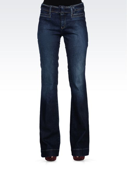 USED EFFECT FLARED JEANS: Jeans Women by Armani - 2