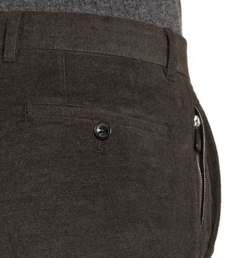 ERMENEGILDO ZEGNA: Casual trouser Dark brown - 36456827WV