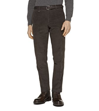 ERMENEGILDO ZEGNA: Casual pants Dark brown - 36456827WV