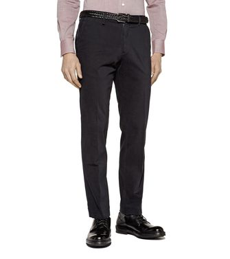 ERMENEGILDO ZEGNA: Dress pants Blue - Grey - Maroon - Ivory - 36456828OH
