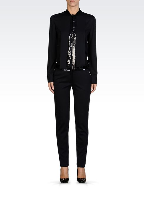 Pants: Straight leg pants Women by Armani - 1