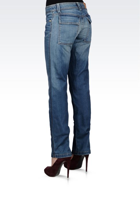 VINTAGE EFFECT REGULAR FIT JEANS: Jeans Women by Armani - 3