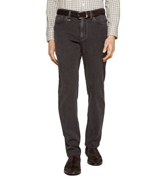 ERMENEGILDO ZEGNA: 5-pockets Trousers Blue - Grey - Maroon - 36462039RG