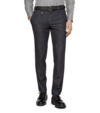 ERMENEGILDO ZEGNA: Denim Blue - Grey - Maroon - 36462042BE