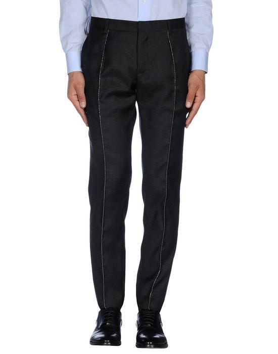 Классические брюки SAINT LAURENT. Цвет: стальной серый