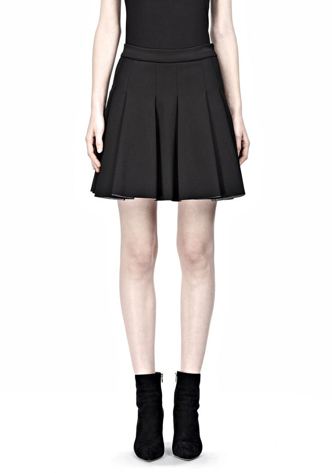 JERSEY BONDED NEOPRENE BOX PLEAT SKIRT
