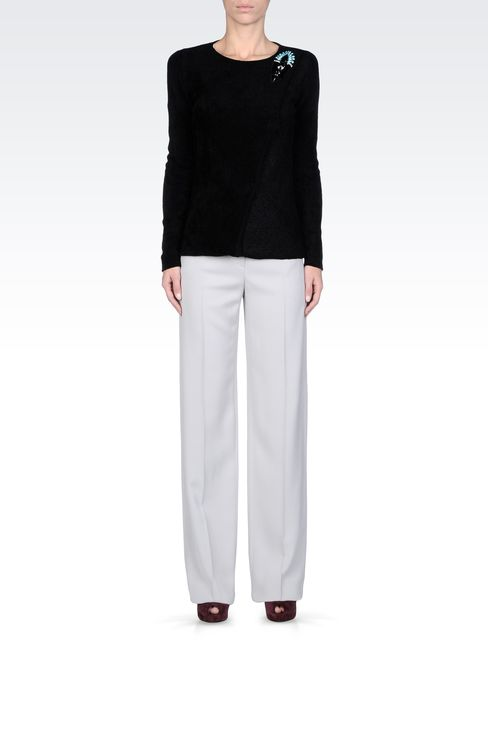 Pants: Low-rise pants Women by Armani - 1