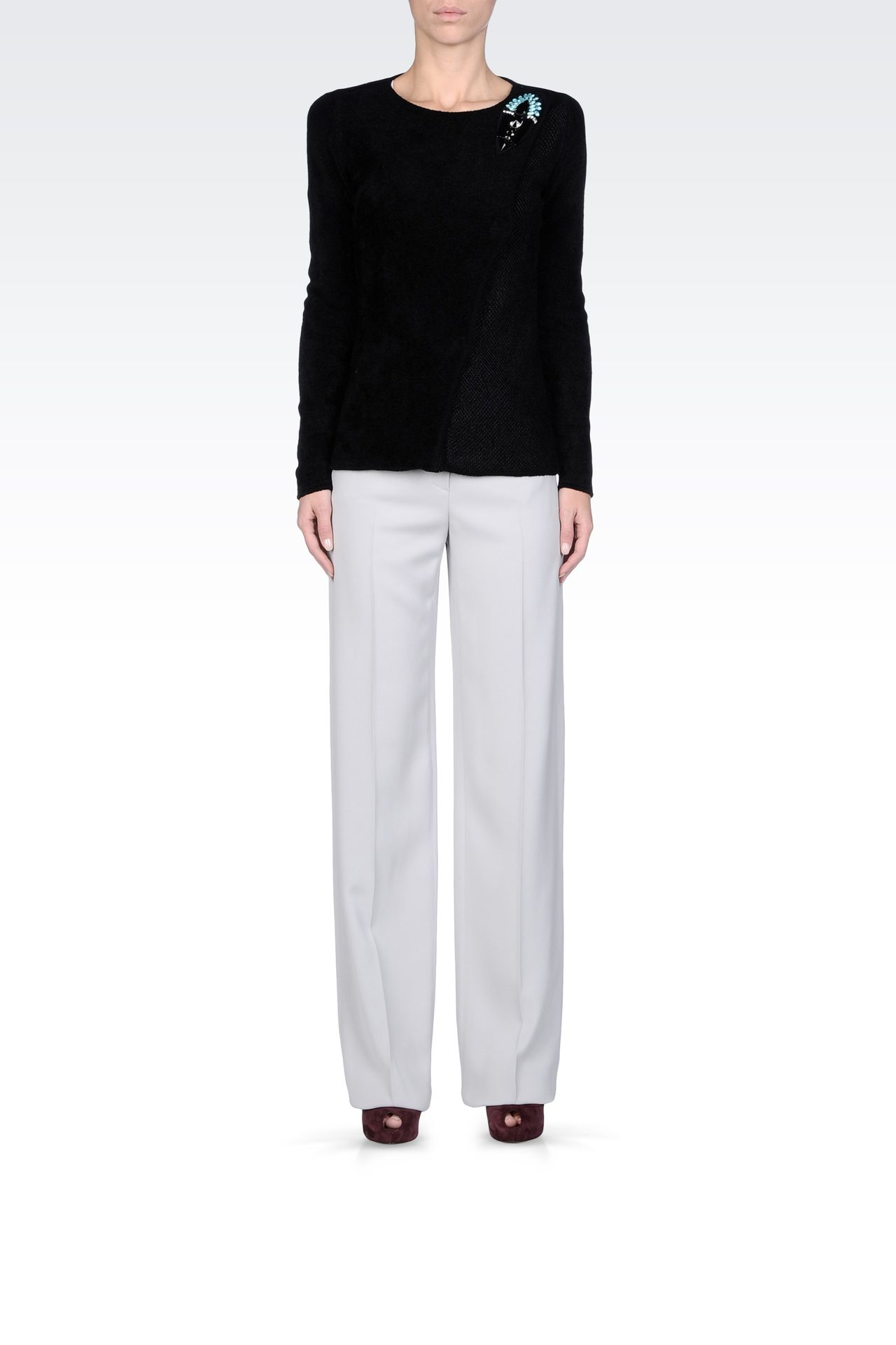 Pants: Low-rise pants Women by Armani - 0