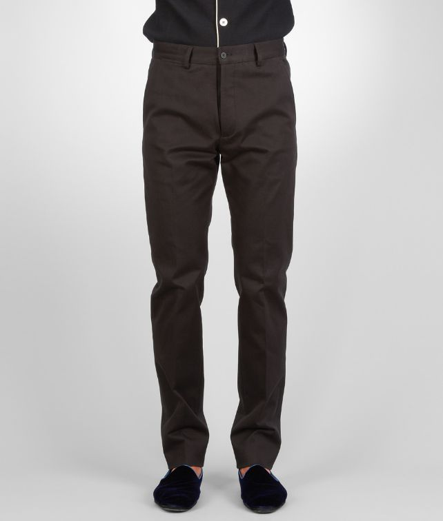 Dark Navy Washed Gabardine Pant