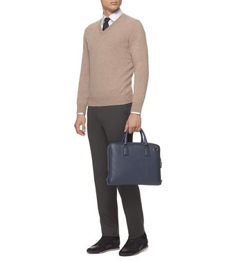 ERMENEGILDO ZEGNA: Dress Pants Blue - 36485533MU