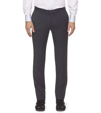 ERMENEGILDO ZEGNA: Dress pants Blue - Grey - Maroon - Ivory - 36485533MU