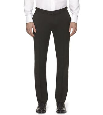 ERMENEGILDO ZEGNA: Dress pants Blue - Grey - Maroon - Ivory - 36485534RR