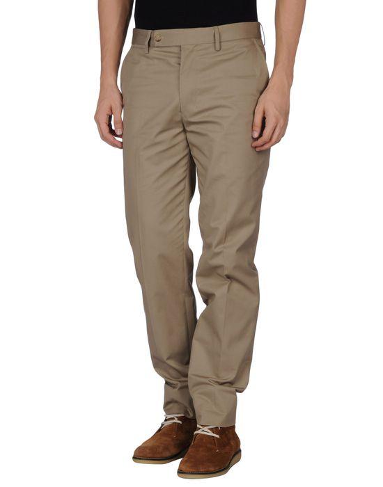 Классические брюки SAINT LAURENT. Цвет: хаки