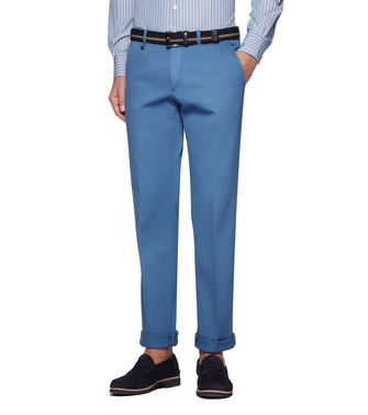 ERMENEGILDO ZEGNA: Dress pants Azure - 36487716BI