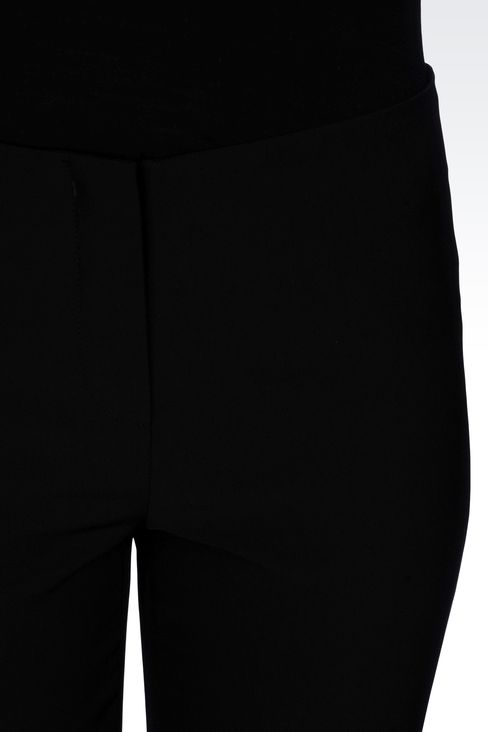 CIGARETTE PANTS IN TECHNICAL CADY: Straight leg pants Women by Armani - 4
