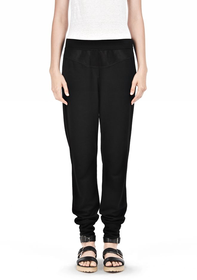 T by ALEXANDER WANG RAYON TRIBLEND SWEATPANTS PANTS Adult 12_n_e