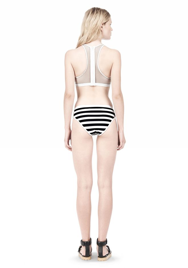 T by ALEXANDER WANG STRIPE MESH COMBO SWIM BOTTOM Swimwear Adult 12_n_r
