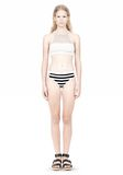 T by ALEXANDER WANG STRIPE MESH COMBO SWIM BOTTOM Swimwear Adult 8_n_f
