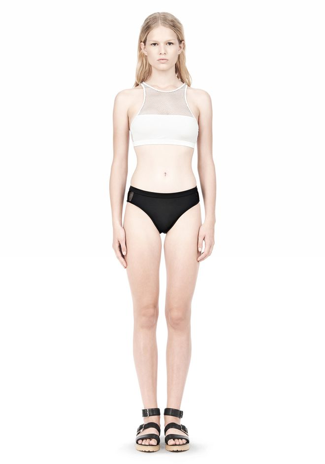 T by ALEXANDER WANG MESH COMBO SWIM BOTTOMS