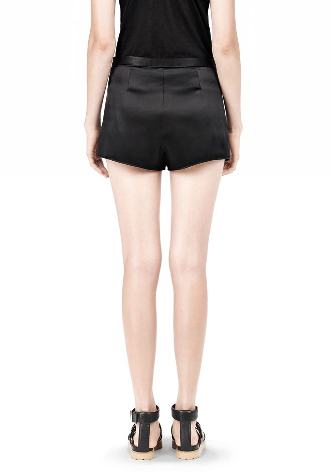 T by ALEXANDER WANG SILK SATIN SHORTS SHORTS Adult 12_n_d
