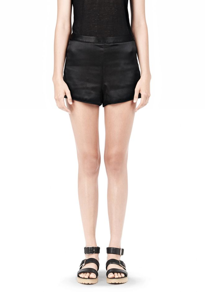 T by ALEXANDER WANG SILK SATIN SHORTS SHORTS Adult 12_n_e